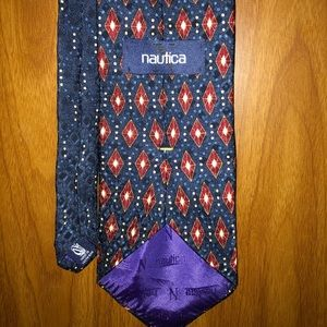 Men's navy blue/ maroon necktie